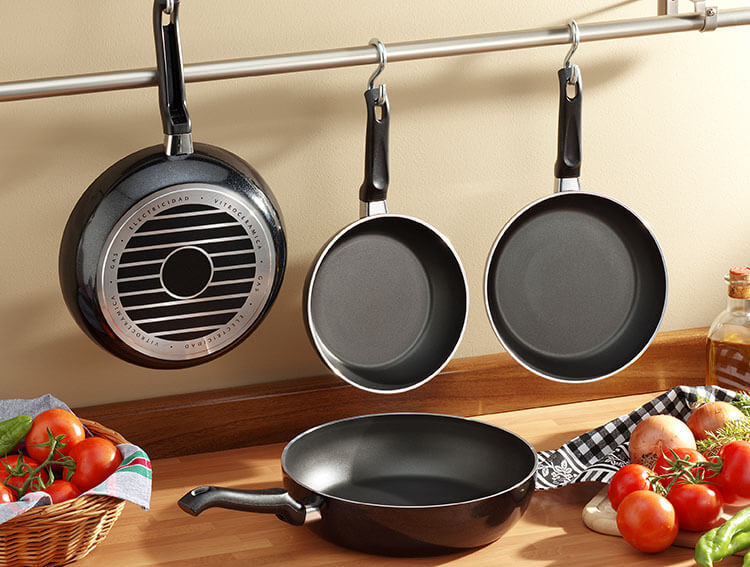 Make sure to choose a wide pan