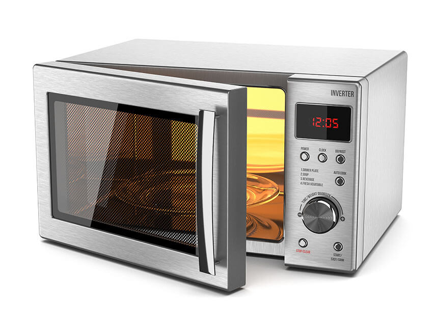 In the microwave