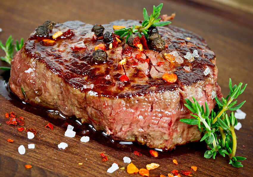 Reheated steak without tough and dry