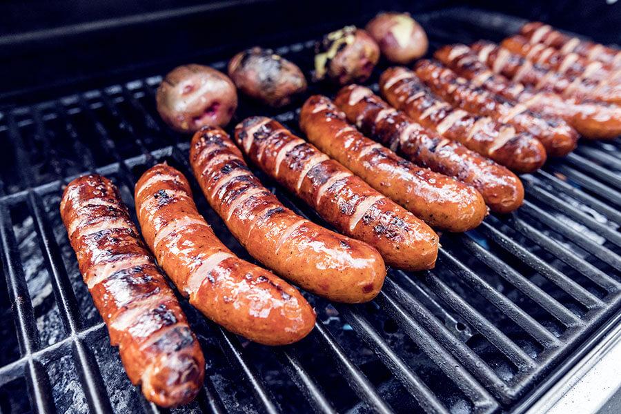Grilling Polish Sausage