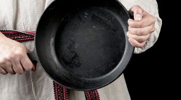 Let me instruct you how to clean a cast iron skillet.