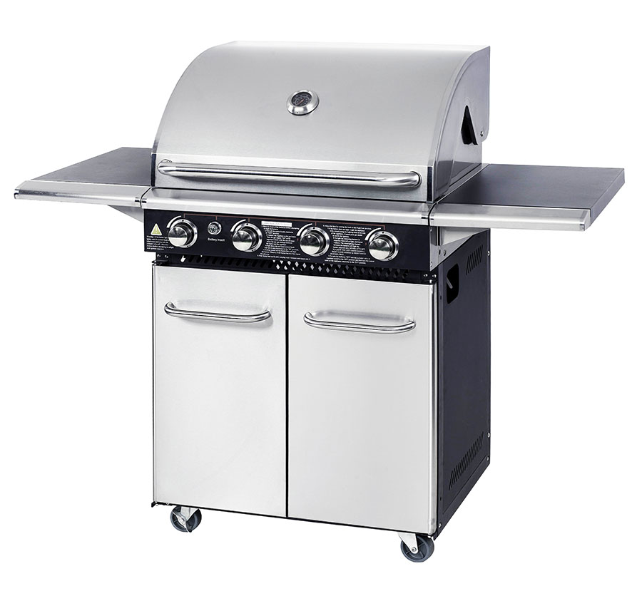 More room for cooking with 4 burn gas grill